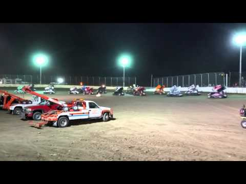 Sprint car parade lap at LaSalle Speedway
