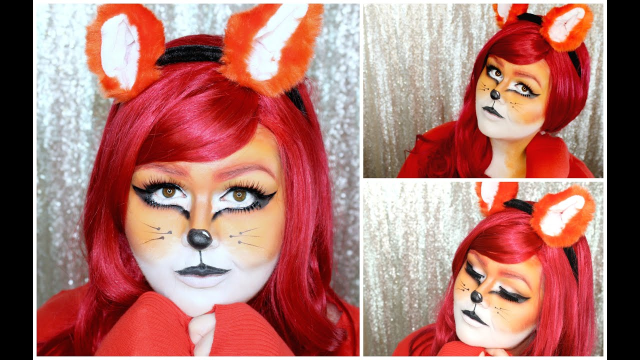 Fox Halloween Makeup Tutorial & Fox Halloween Makeup Tutorial - YouTube