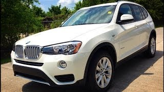 2015 BMW X3 sDrive28i Full Review, Start Up, Exhaust