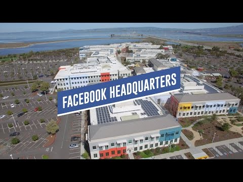 Old Facebook Headquarters Drone Tour - 1 Hacker Way