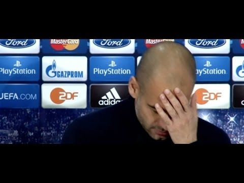 Guardiola estaba hablando en inglés... ¡y se pasó al alemán! | Bayern Munich 2013-14