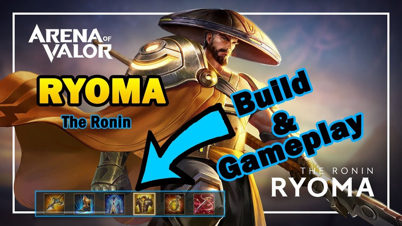 Ryoma Aov Build Item Gameplay Arena Of Valor Garena Indonesia