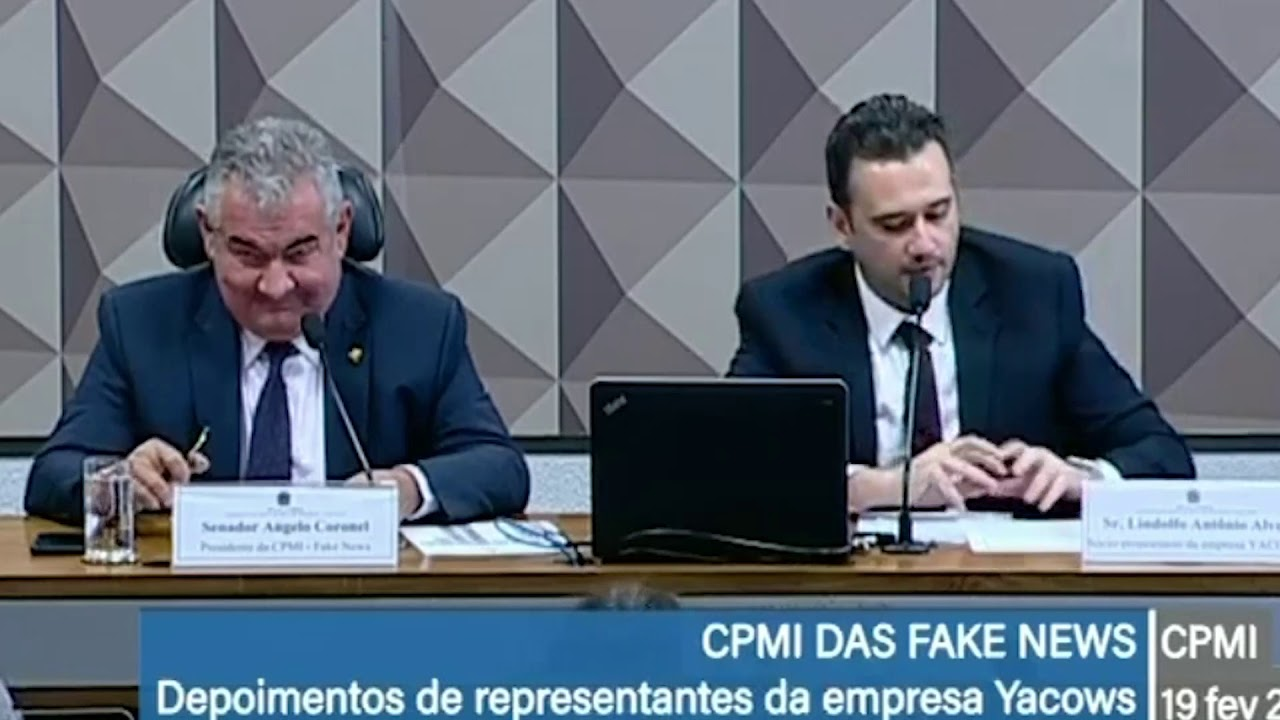 Resultado de imagem para Vídeo – CPI das Fake News: dono da Yacows confirma campanha para Meirelles e Haddad