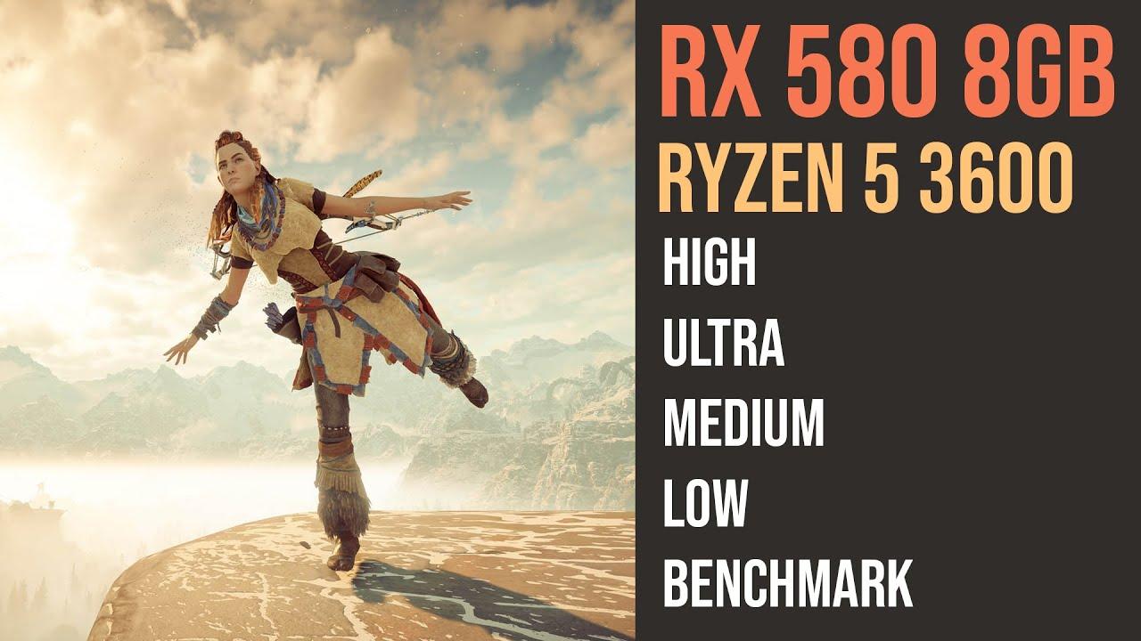 RX 580 8GB Horizon Zero Dawn | Ryzen 5 3600 |  | 1080p