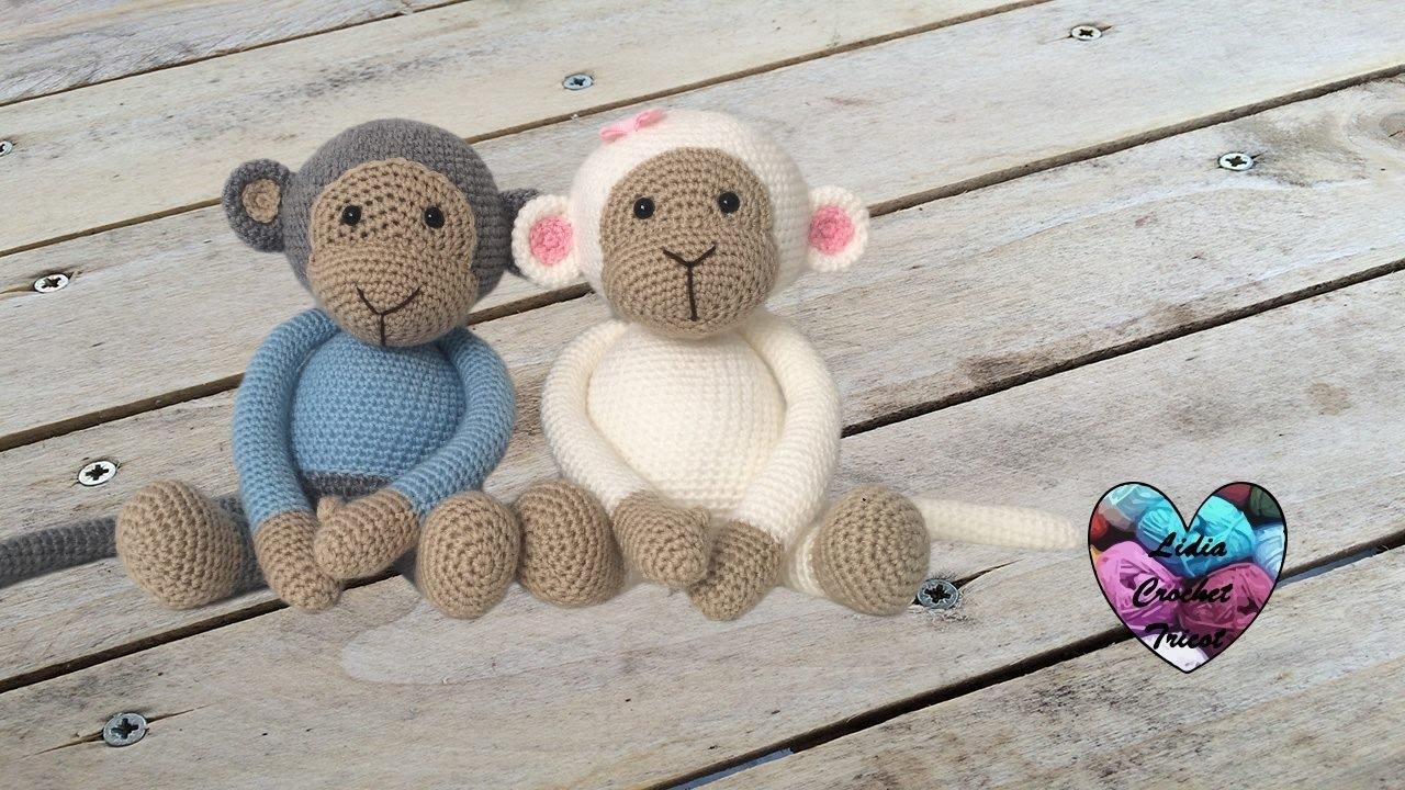 Crochet Mini Monkey Amigurumi Pattern - Amigurumi Crochet Animals ... | 720x1280