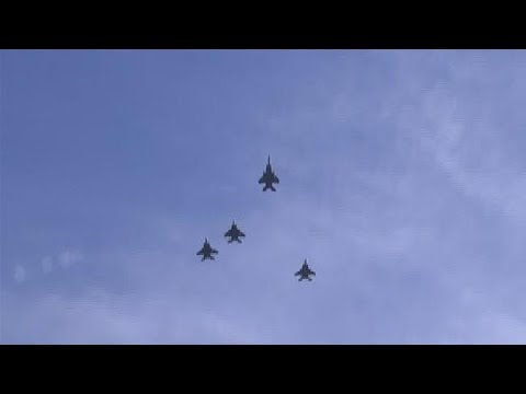 Video: Jets flyover Lt. Col. Fontenot funeral service