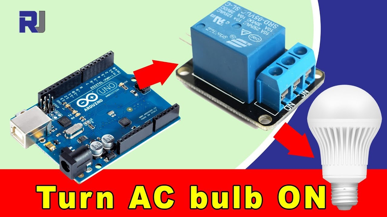 How to use 5V Relay with Arduino to turn ON and OFF AC bulb  Bulb Lamp Wiring Diagram Utube on