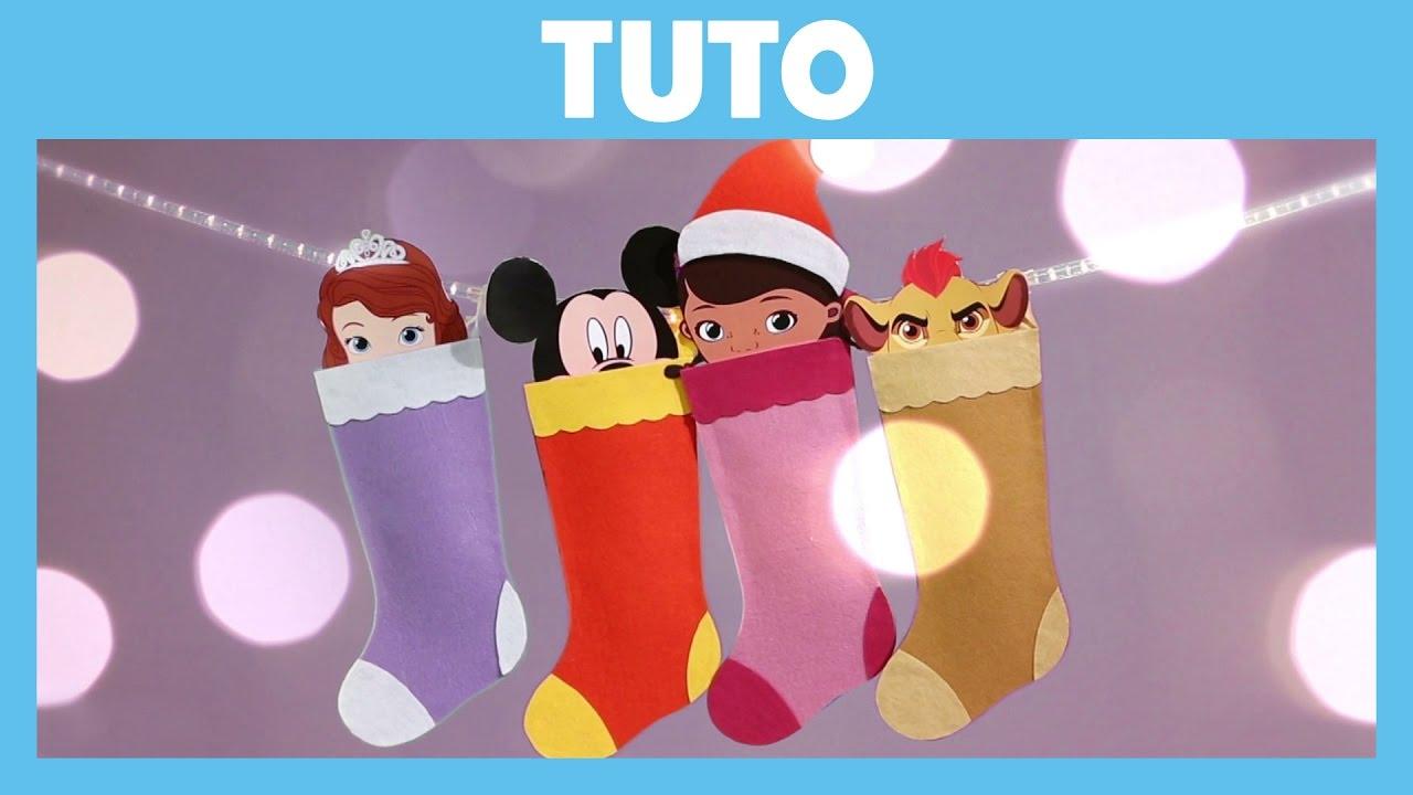 disney junior tuto chaussettes de nol - Chaussette De Noel Disney