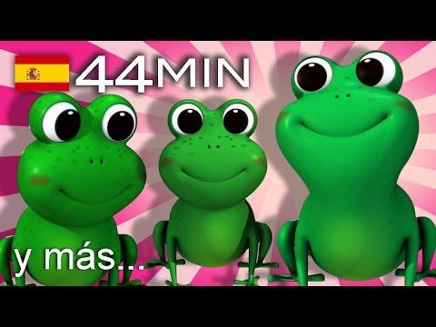 Cinco ranitas    Y muchas más canciones infantiles   ¡44 min de LittleBabyBum!