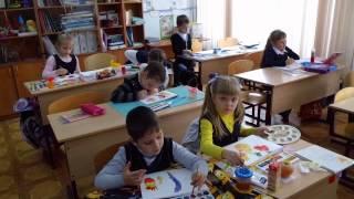 Урок рисования в 1 классе