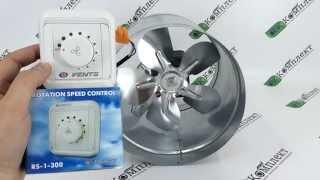 видео Высокотемпературный канальный вентилятор, что это такое и где купить