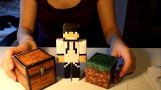 Minecraft papercraft karácsonyra