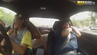 Woman Race Car Driver Pretending to Be Student Shocks Driving Instructors