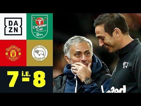 Frank Lampard schlägt Jose Mourinho: Manchester United – Derby County 7:8 i.E. | Carabao Cup | DAZN