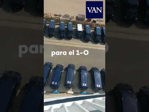 El vídeo que muestra el fuerte despliegue de la Policía Nacional para frenar el 1-O