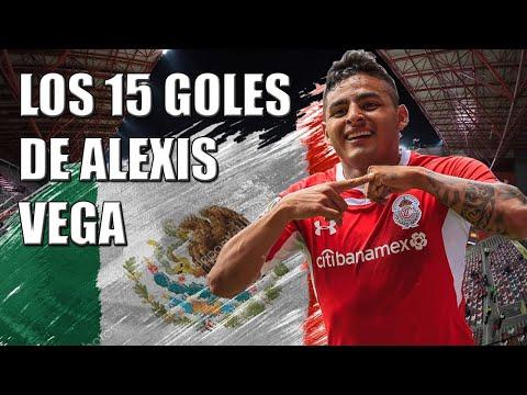 Los 15 goles de Alexis Vega con Toluca