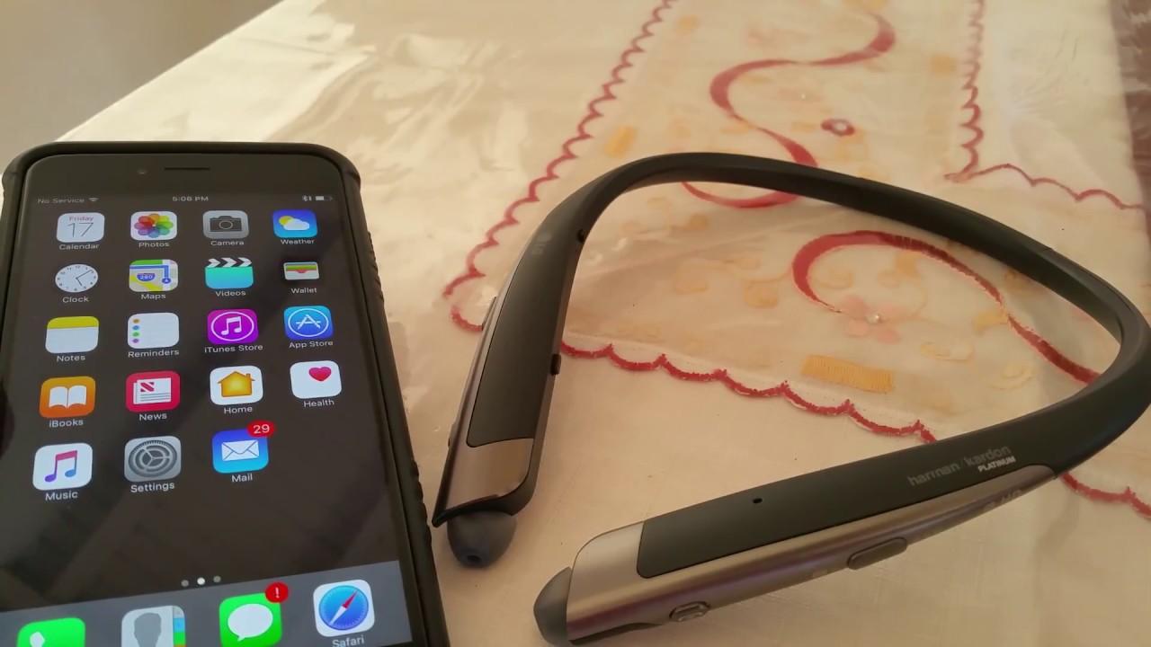 11c4ef105c4 How to pair LG Tone Platinum to Iphone 6 plus - YouTube