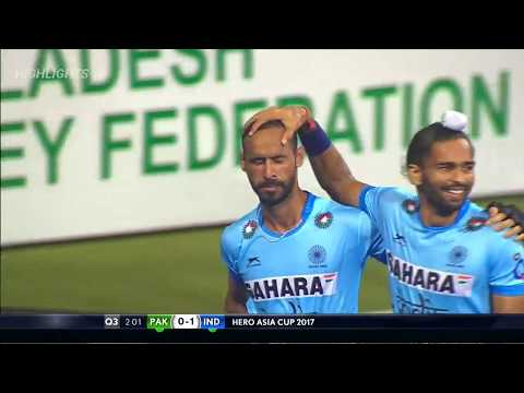 Pakistan 1-3 India Asia Cup Hockey HD Highlights 15 October 2017