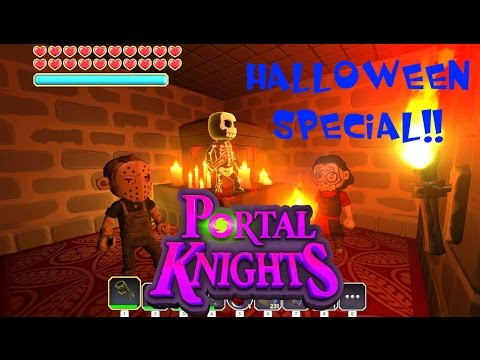 """Portal Knights Halloween Special! """"New NPC's, Weapons and Outfits in New World!"""""""