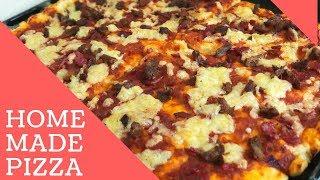 EASY HOME MADE PIZZA RECIPE // Wabosha Maxine