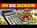 FREE Deal Calculator for Wholesaling House and Real Estate Investing