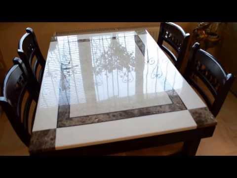 Стол с мраморной столешницей ZH-878L с коллекции столы с камнем