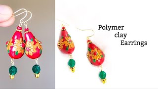 Making Beautiful Polymer Clay Earrings||Simple & Easy  Clay Earrings||Polymer Clay Jewelry Tutorials