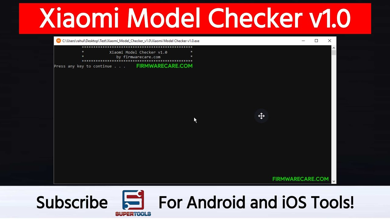 Xiaomi Model Checker v1 0 to Check the Model Number | Super Tools