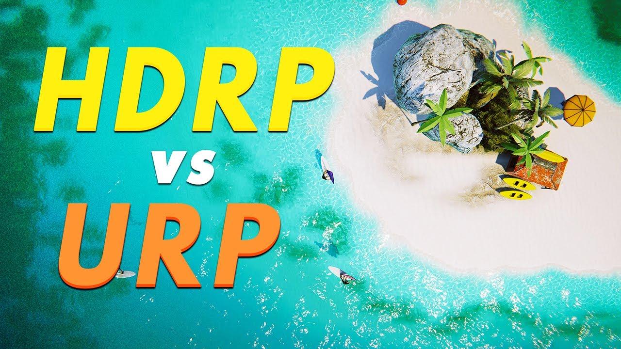 Teaser - HDRP vs URP in Unity - Different Lighting Workflow Explained