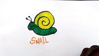 draw and color, snail, frog,fish and honey bee| learn to write its names| coloring fun