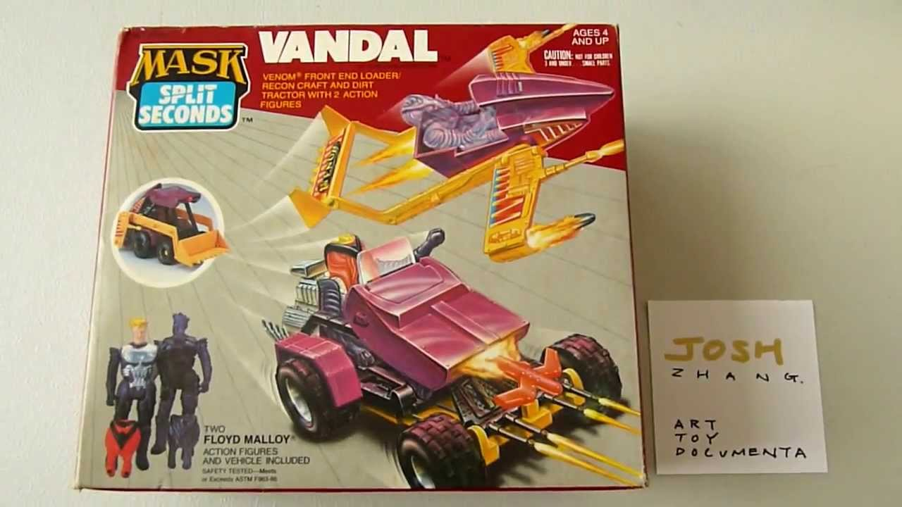 VINTAGE M.A.S.K KENNER ACTION FIGURE FLOYD MALLOY RECON CLONE VANDAL SERIES