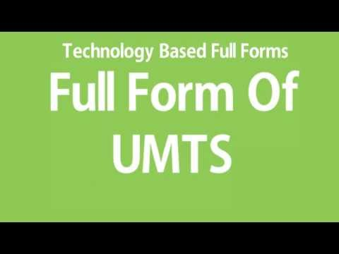 Full Form Of UMTS