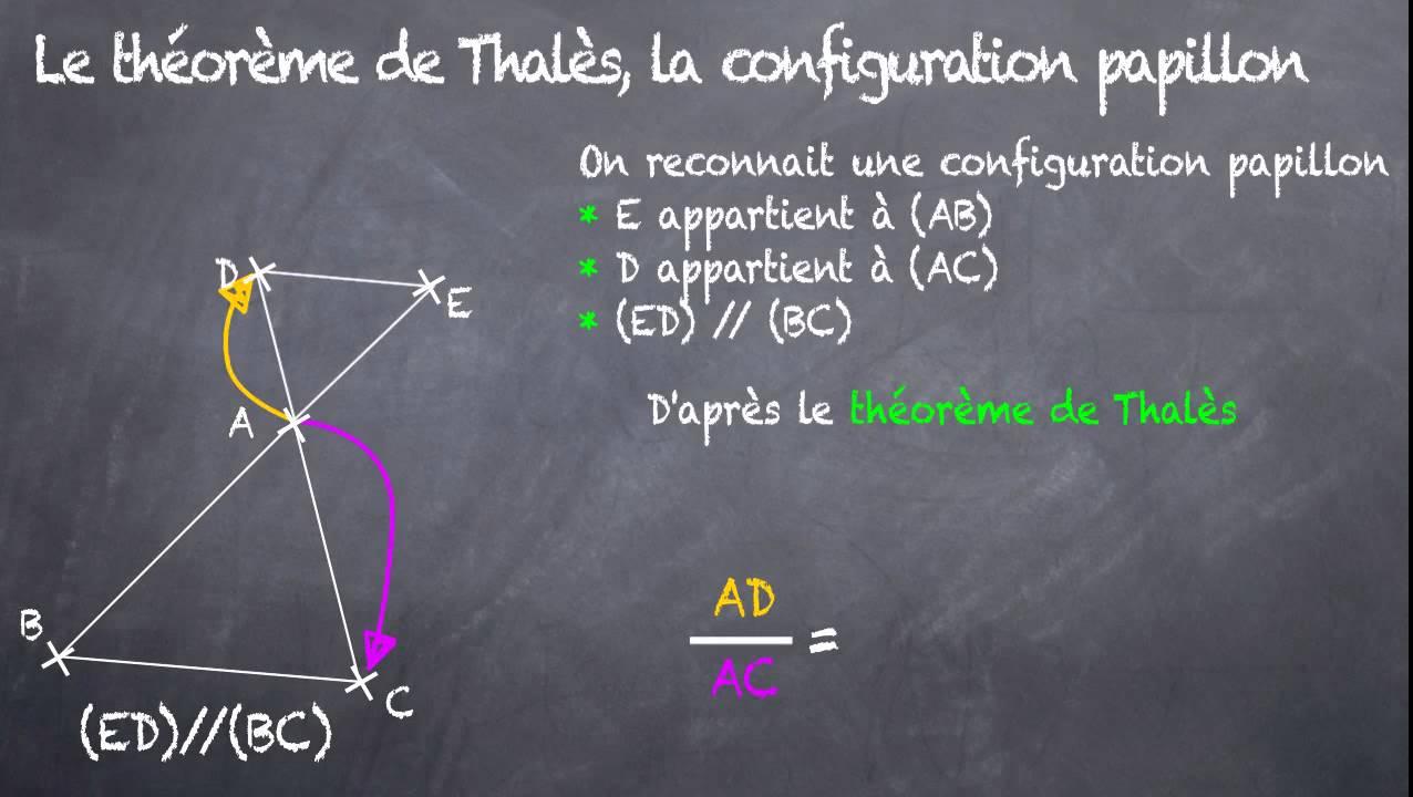 Théorème de Thalès : Configuration papillon (3eme) - YouTube
