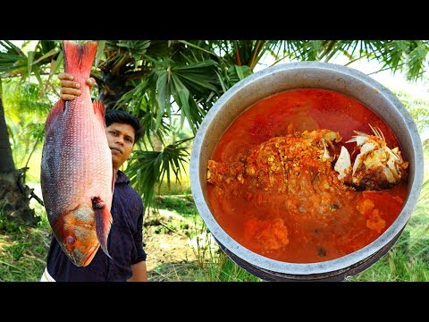 Primitive Technology - Eating delicious - Cooking big fish recipe | 10 Kg Full Fish Cooking