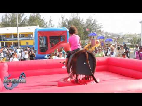 #2 Mechanical Bull Riding St. David's Gilbert Lamb Day Good Friday Bermuda April 22 2011