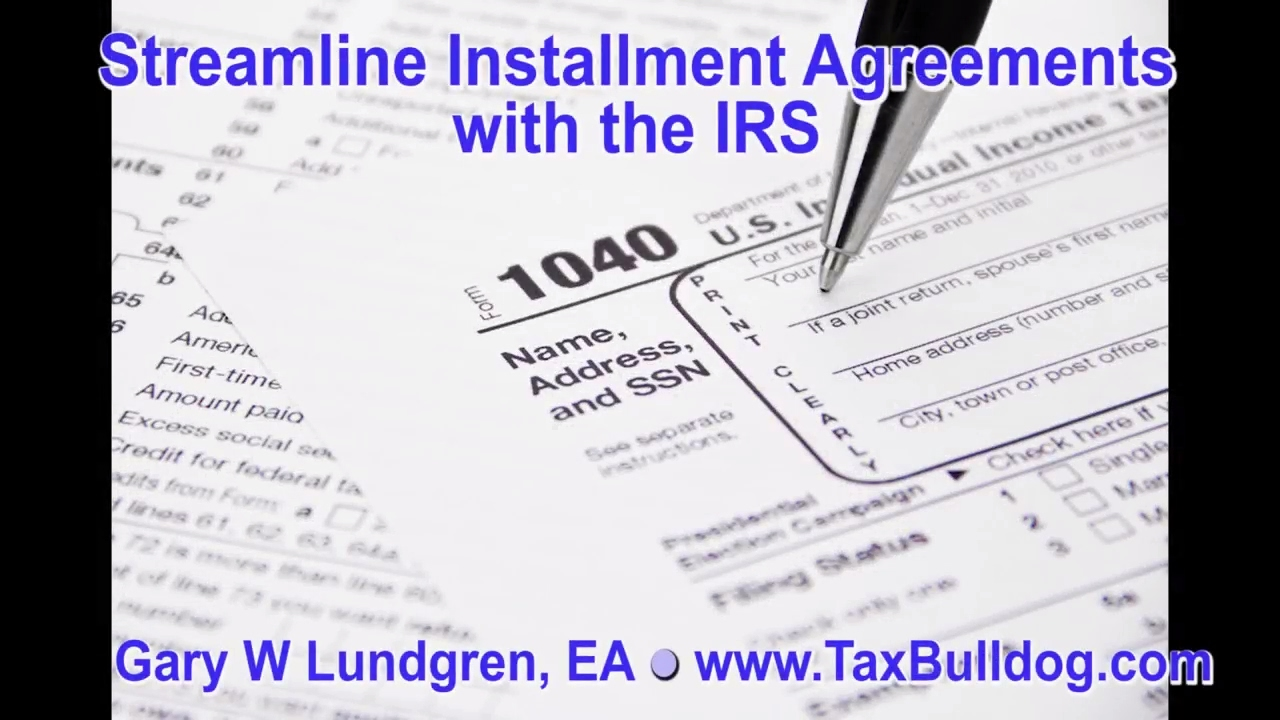 IRS Streamline Installment Agreement Ep.2017-02 - YouTube