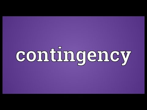 Contingency Meaning
