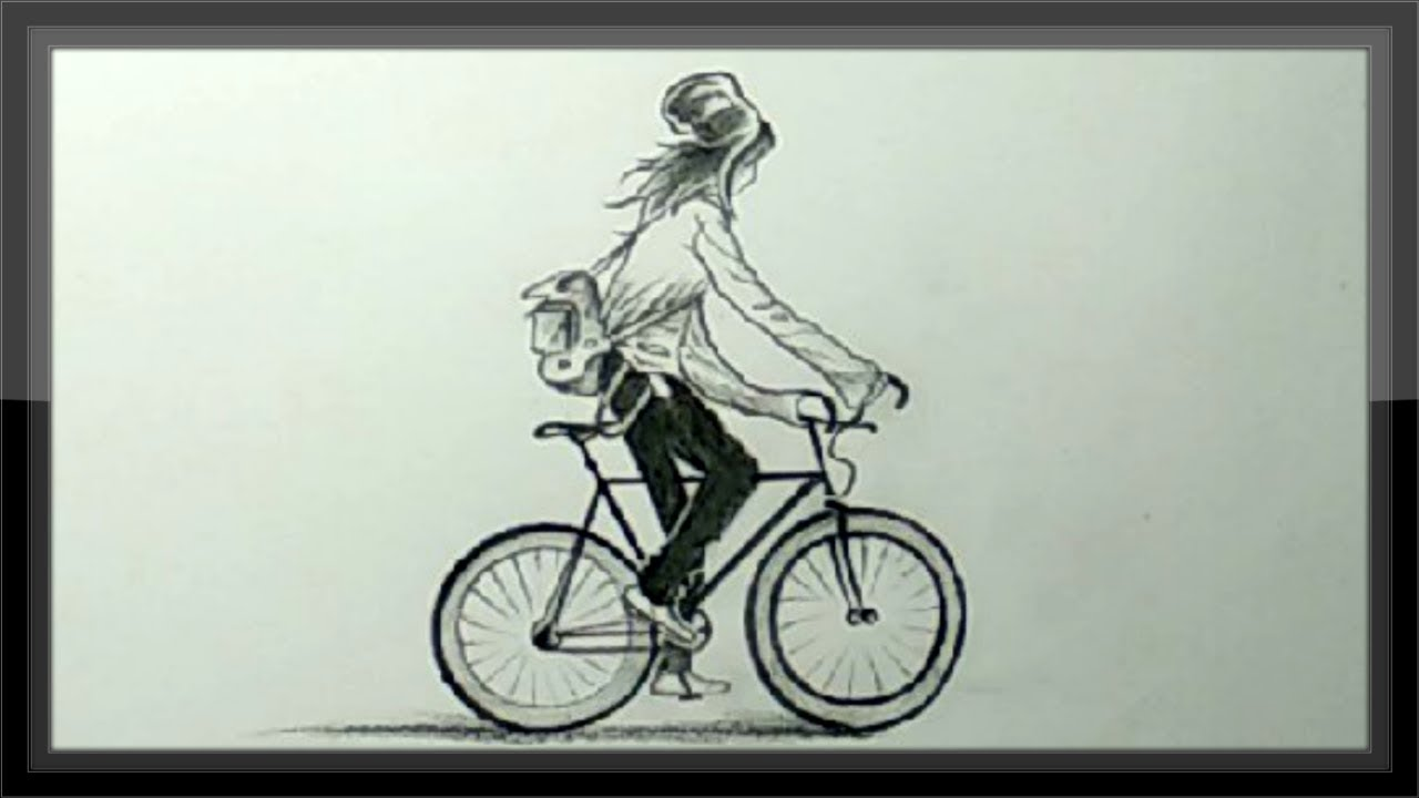 Bicycle Pencil Drawing