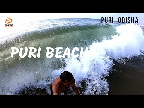 Puri Sea Beach | Day 1 | Puri Odisha | Bath in sea Beach | GoPro Hero 6