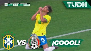 ¡Gol de Brasil! ¡Qué definición! | Brasil 1 - 0 México | Amistoso Femenil Internacional  | TUDN