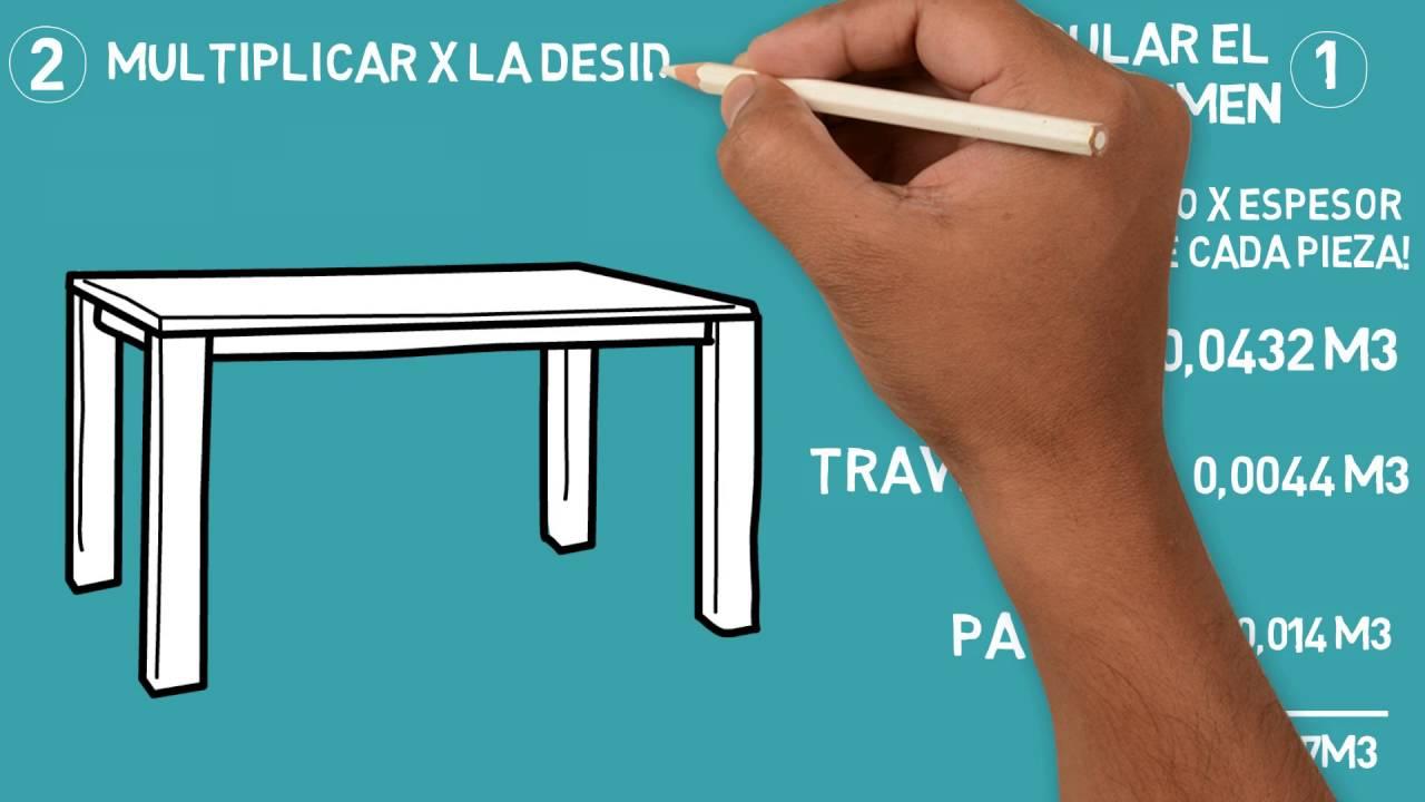 Como calcular el peso de un objeto de madera? - YouTube