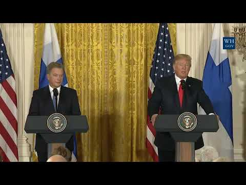 President Trump Joint Press Conference with President Sauli Niinist of Finland 8/28/2017