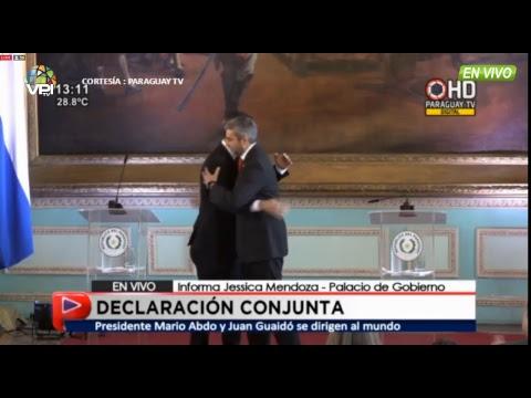 EN VIVO - Juan Guaidó llega a Paraguay