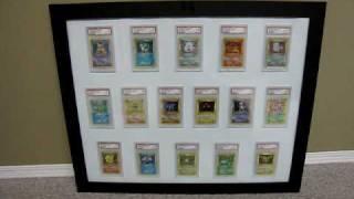 Complete Pokemon PSA 9 1st Edition Base Set Holofoil 16 Card Set. *MINT COLLECTION* ~Framed~