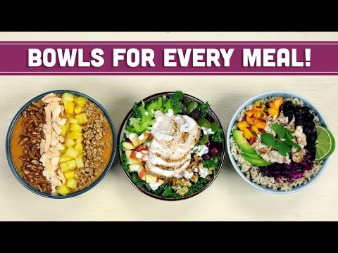 Healthy Breakfast Lunch & Dinner Bowls with The Domestic Geek! Collab Mind Over Munch
