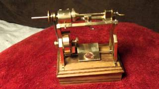 Solenoid Powered Mini Brass Engine Lathe