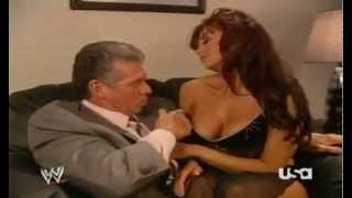 Repeat youtube video Vince Mcmahon and Candice Michelle Making Out Backstage