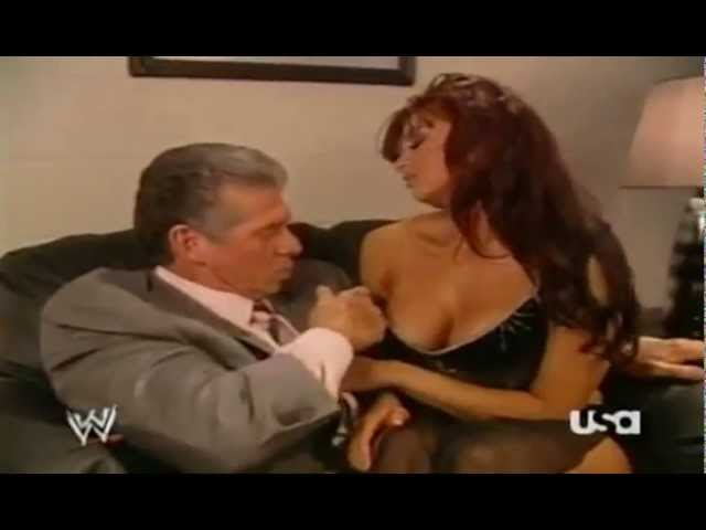 Vince Mcmahon and Candice Michelle Making Out Backstage #1