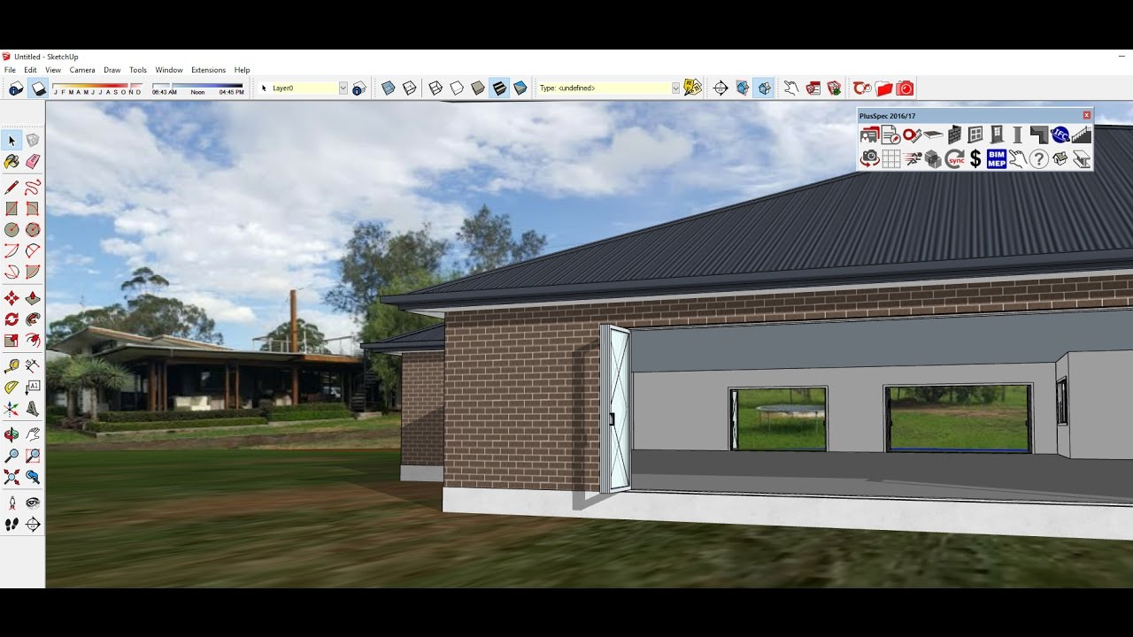 How To Add A Real Photo Back Drop To Your 3d Model For Clients In Sketchup Youtube