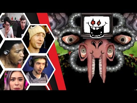 Let's Players Reaction To Seeing Omega Flowey / Photoshop Flowey | Undertale